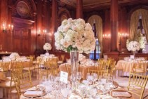 White and light pink Tall centerpiece