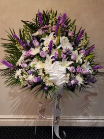 White and Purple basket