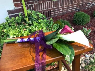 White and Purple Calla Hand Bouquet Hand Bouquets