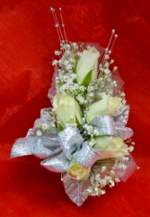 White and Silver Corsage-10C
