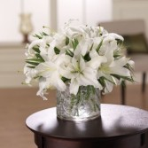 White and Wonderous Vase Arrangement