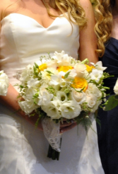 Bridal bouquet handheld bouquets in webster tx la mariposa flowers white and yellow bridal bouquet mightylinksfo