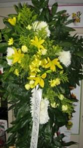 White and Yellow Cross