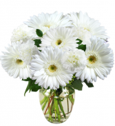 WHITE AS SNOW Vase Arrangement