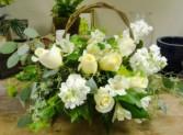 White Basket Basket Arrangement