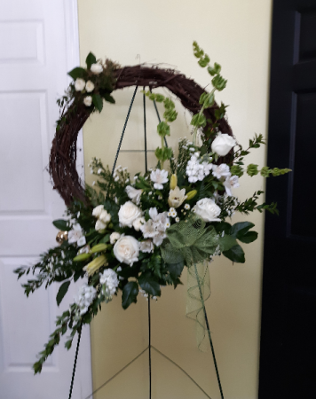 White beauty grapevine wreath grape vine wreath