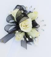 White & Black Corsage