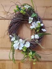 White Blossom Wreath T&V Exclusive