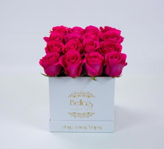 White box pink roses in yonkers ny yonkers florist bellas white box pink roses mightylinksfo
