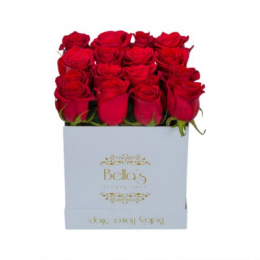 White Box 25 Red Roses