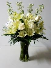White Break Funeral Arrangement