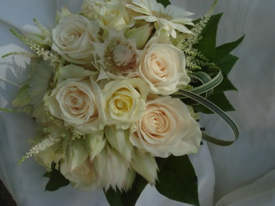 white bridal bouquet wedding