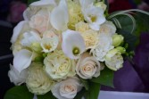 white bridal bouquet with cala lilies wedding