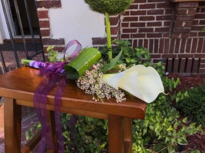 White Calla Hand Bouquet Hand Bouquets
