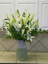 White Calla Lilies and Roses