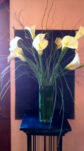 White Calla Lilies Flower arrangement