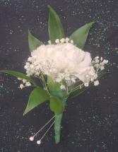 White Carnation Boutonniere FHF-909 ****Pick Up Only****