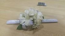 White Carnation  Corsage