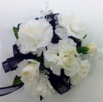 White Carnation Wrist Corsage