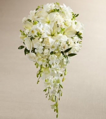 White Cascade Bridal Bouquet Wedding Flowers