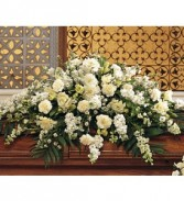 WHITE CASKET SPRAY