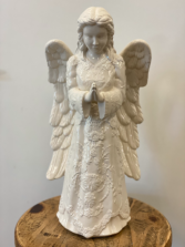White ceramic Angel  22inches