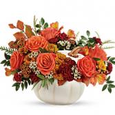 White Ceramic Pumpkin  fall