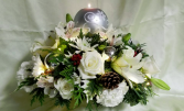White Christmas Keepsake Candle Holder