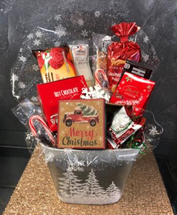 White Christmas Snack Bucket