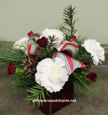 White christmas table center in new hamburg on all flowers charm white christmas table center mightylinksfo
