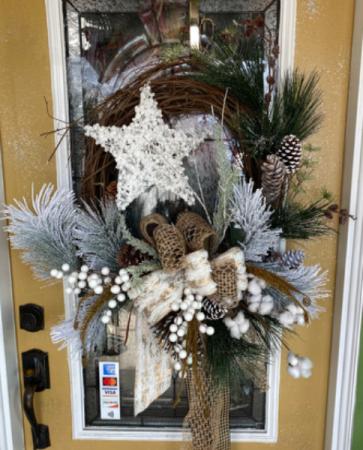 White Christmas/winter  Silk