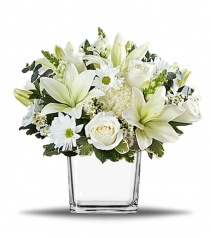 White Clouds Cube Vase