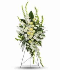 White Condolence Spray sympathy flowers