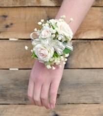 #1 White Corsage Prom Corsage