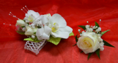 White Corsage and Boutonniere-1E & 1F