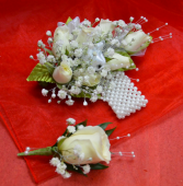 White Corsage and Boutonniere-11C &11D