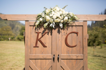 White Country Wedding Floral Swag