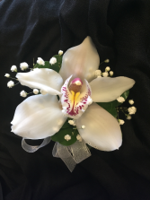 cymbidium orchid accented with filler  Prom corsage