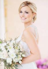 White Dahlia's Bridal Bouquet
