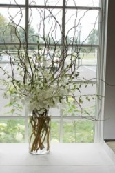 WHITE DENDROBIUM ORCHIDS AND CURLY WILLOWS ***LOCAL DELIVERY ONLY***