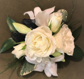 White dendrobium orchids and roses Wrist Corsage