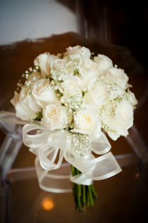 White Dove Eternity Bouquet Wedding