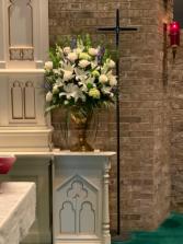 White Elegance Altar Arrangement