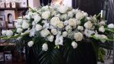 White Elegance  Casket Flowers