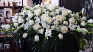 White Elegance  Casket Flowers in Astoria, OR   BLOOMIN CRAZY FLORAL