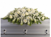 White Elegance Casket Spray Casket Spray