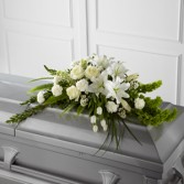 White Elegance Casket Spray