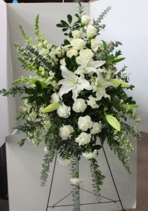White Elegance  Standing Spray in Troy, MI | ACCENT FLORIST