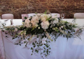 White Elegance Table Arrangements