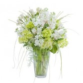 White Elegance Vase - Standard Arrangement